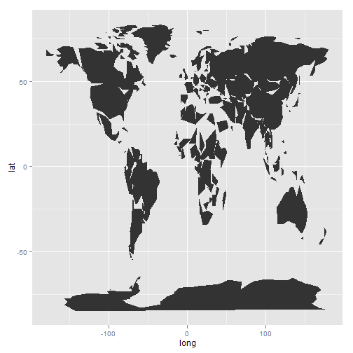 Creating a large scale map using ggplot2: a step by step